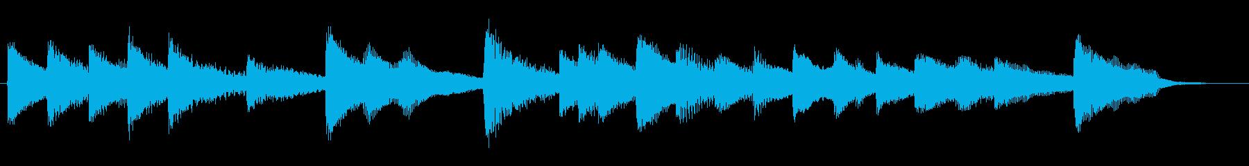 さわやかなピアノのジングルの再生済みの波形