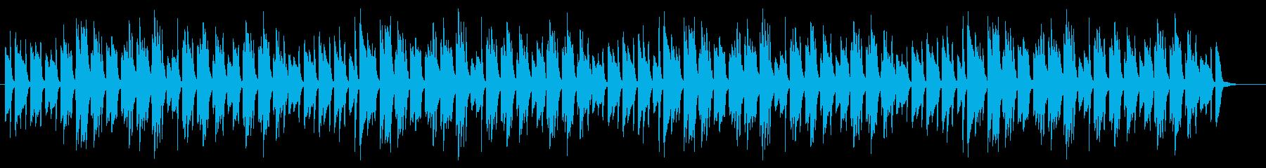 優しい明るい日常 ほのぼの 3拍子ピアノの再生済みの波形