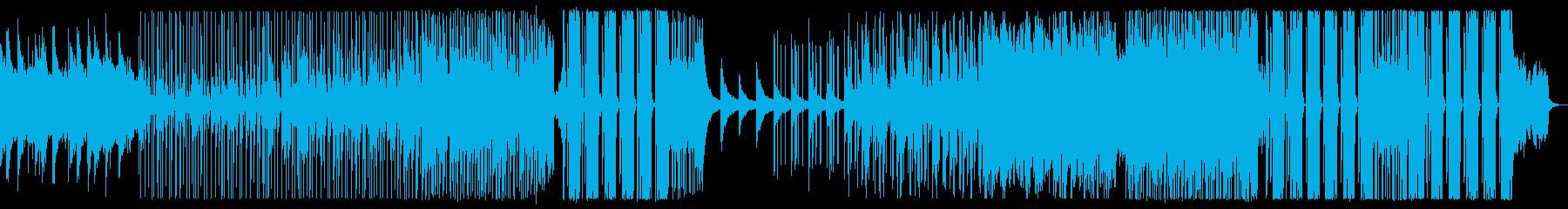 元気になる汎用的なエレクトロBGMの再生済みの波形