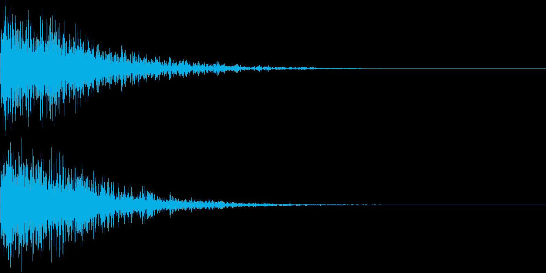 【映画】SFX_04 ダンッ!! 衝撃音の再生済みの波形
