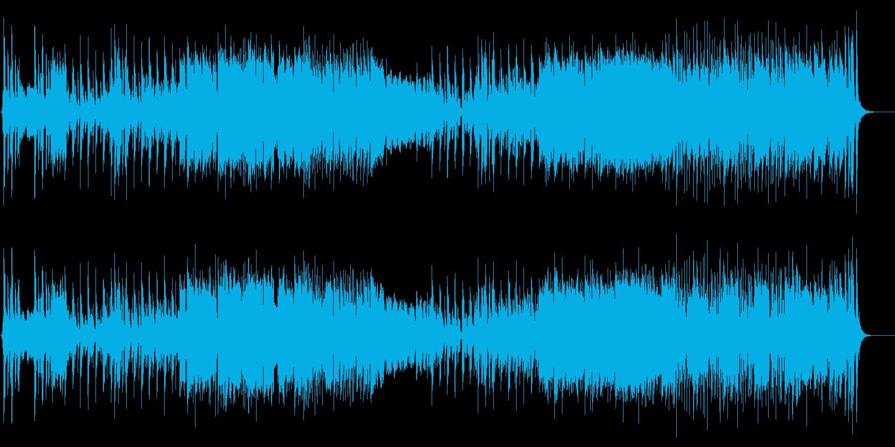 民族っぽい_テーマ曲の再生済みの波形