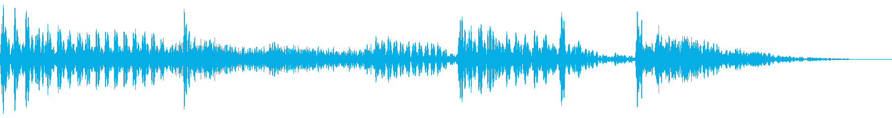 スラップベースとドラムの効果音用素材。の再生済みの波形
