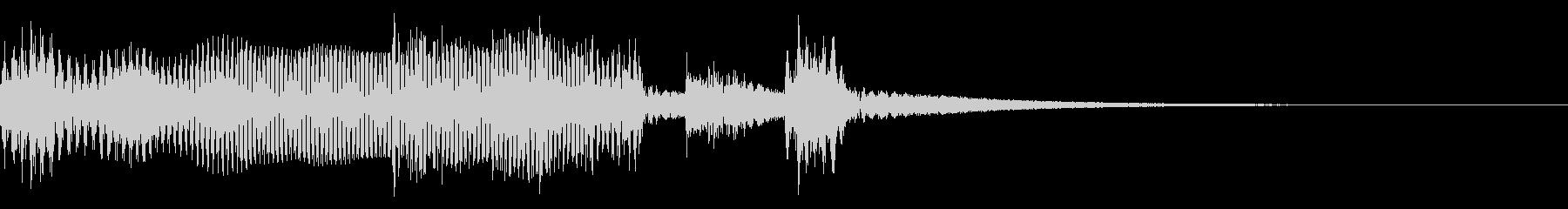 オープニングで使えるゆるいジングルの未再生の波形