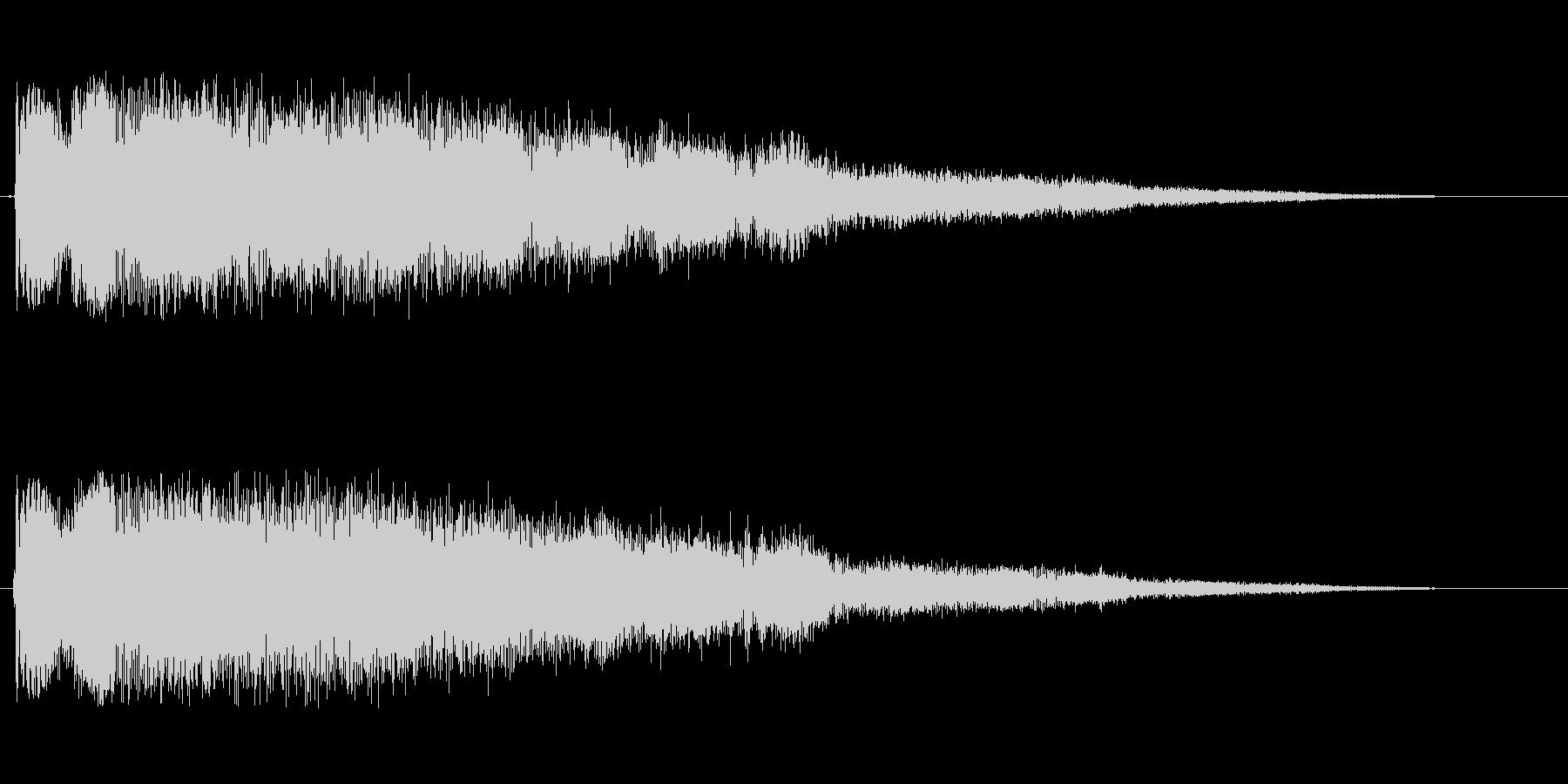 ピヨヨヨヨヨヨン(目が覚める効果音)の未再生の波形