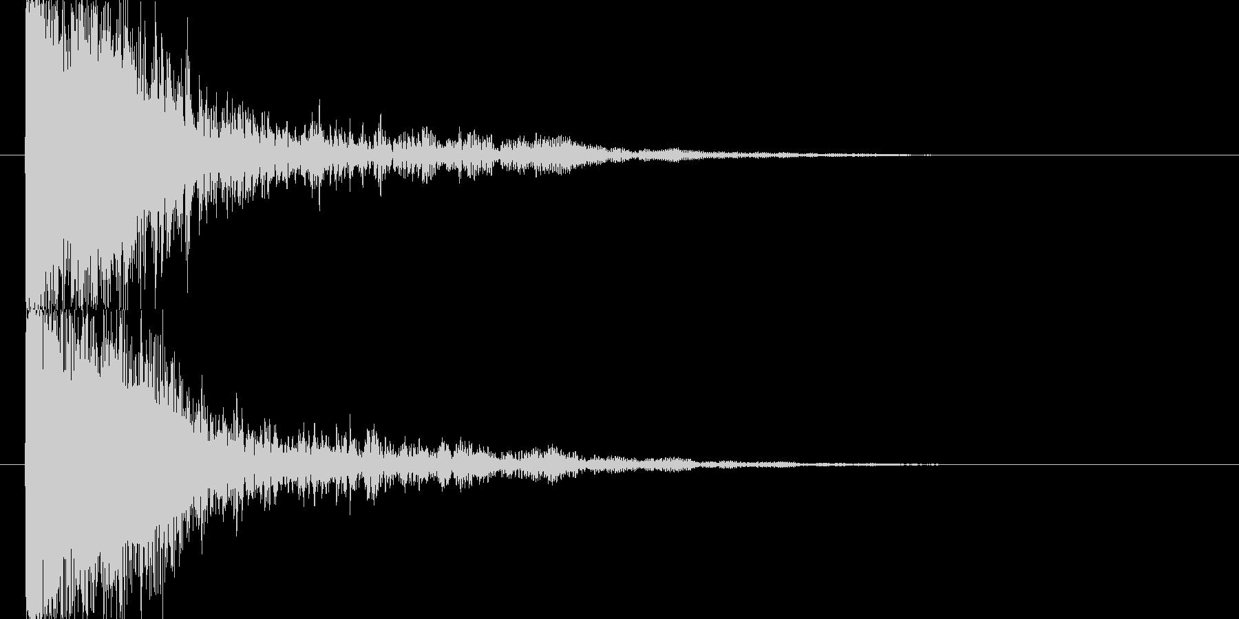 爆発音の未再生の波形