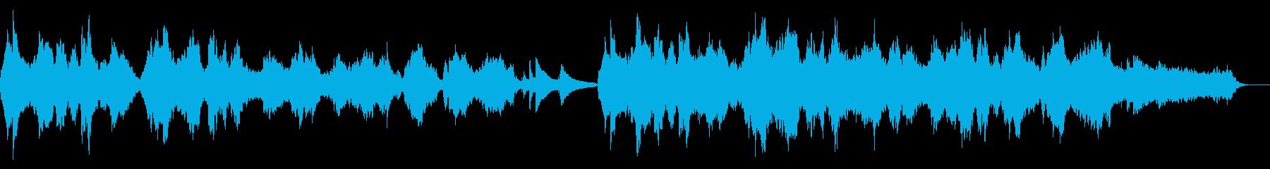 アコギとストリングスの悲しげな雰囲気の曲の再生済みの波形