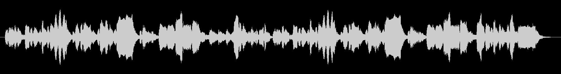 生演奏リコーダーのほのぼのとした音楽の未再生の波形