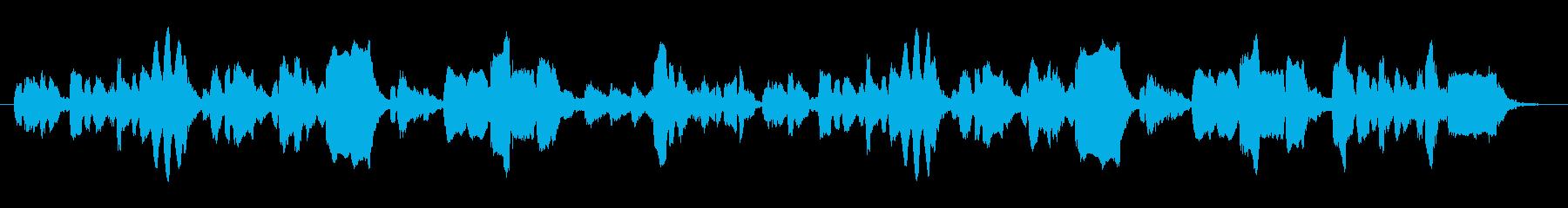 生演奏リコーダーのほのぼのとした音楽の再生済みの波形