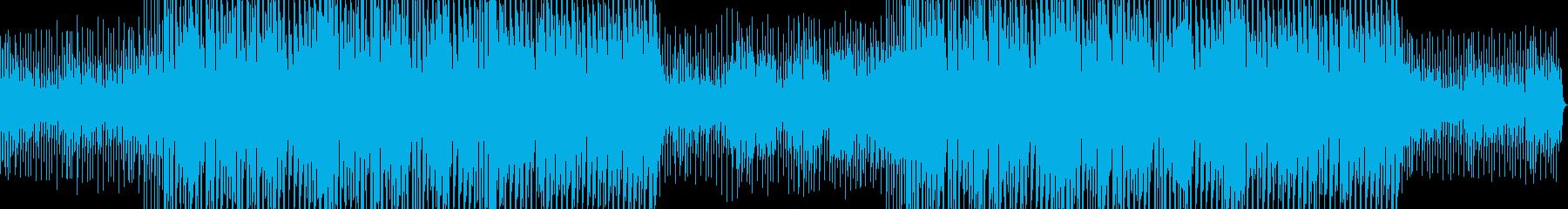 激しいジャズドラムのエレクトロスウィングの再生済みの波形
