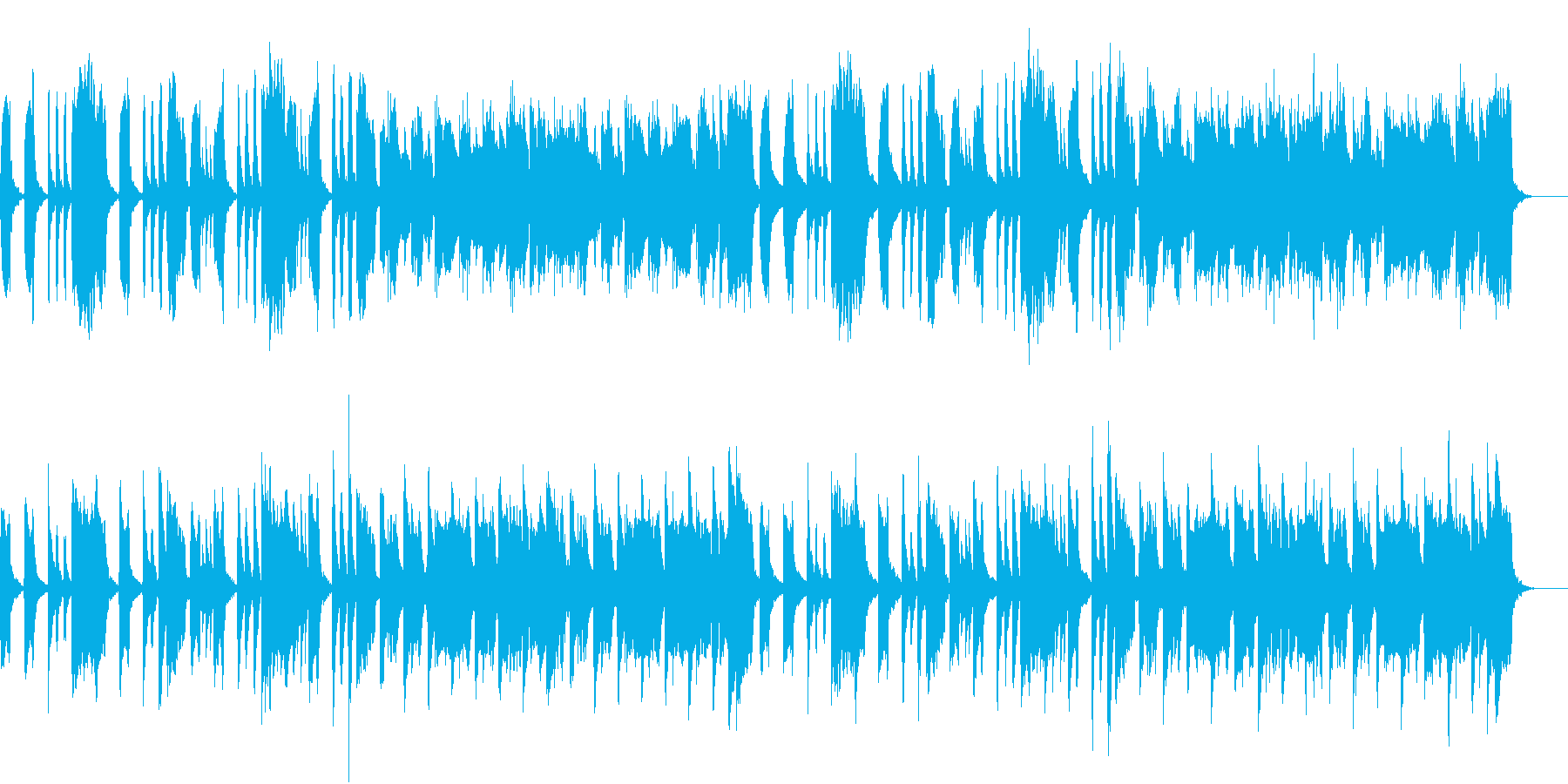 弦楽器や木管楽器のほのぼのしたBGMの再生済みの波形
