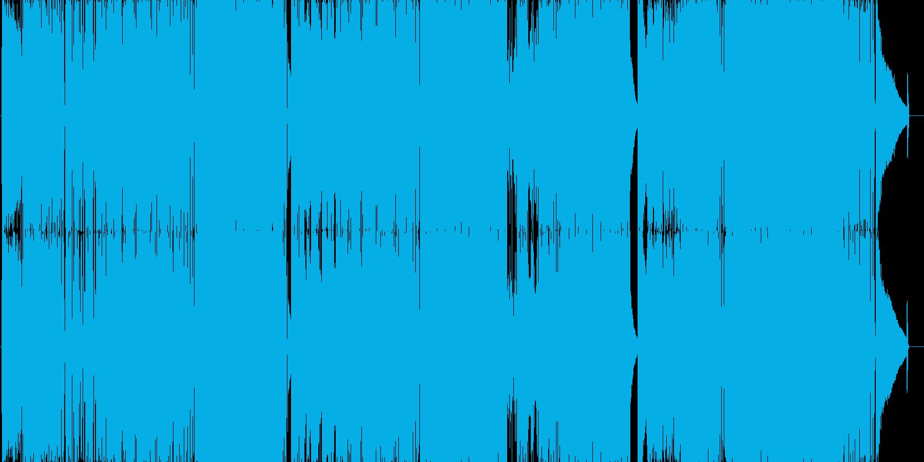 ポップでさわやか。派手なロック曲。の再生済みの波形