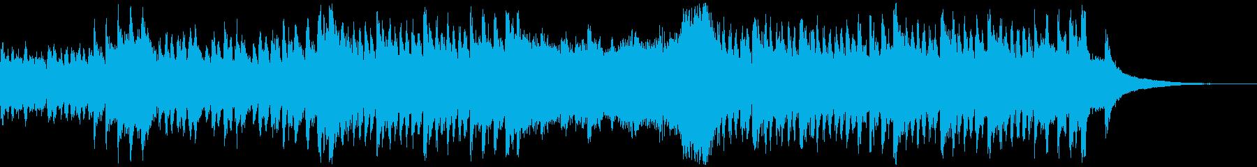 ハロウィン向けコミカルホラーの再生済みの波形