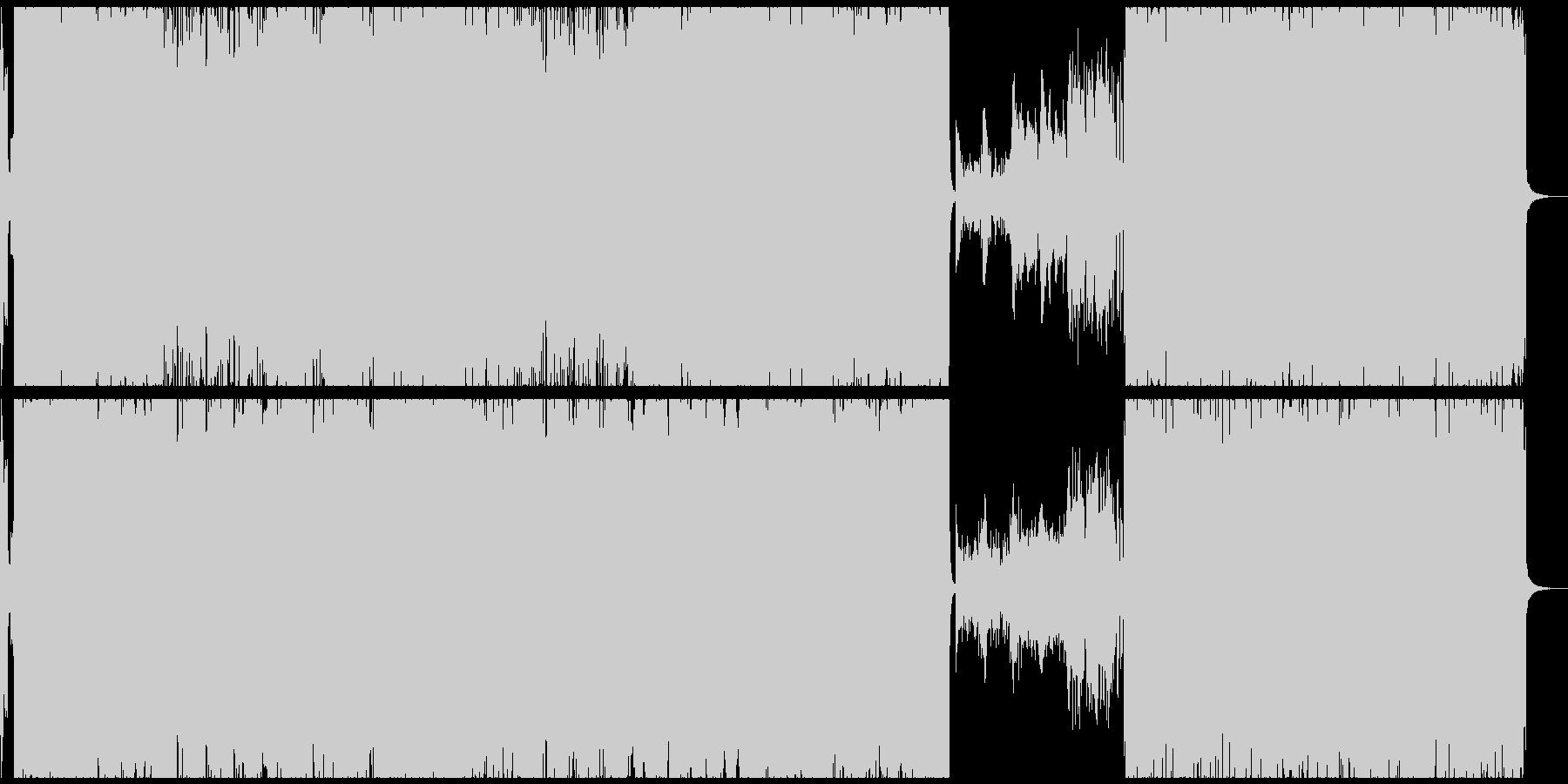 激しいアニソン風テクノロックの未再生の波形