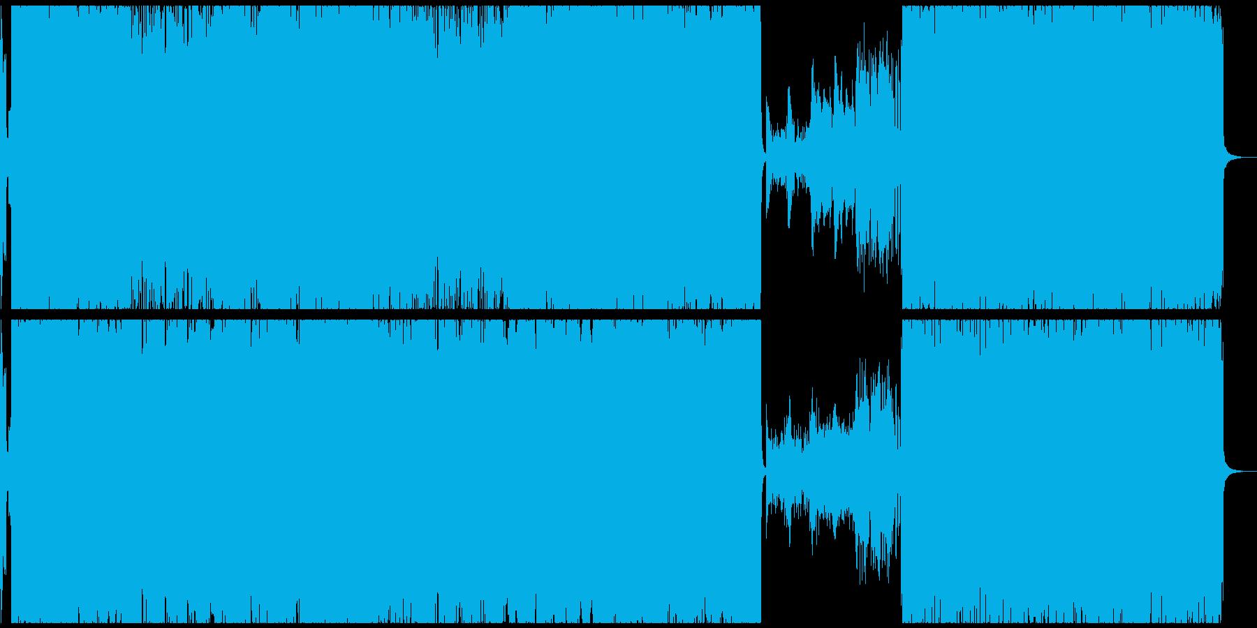 激しいアニソン風テクノロックの再生済みの波形