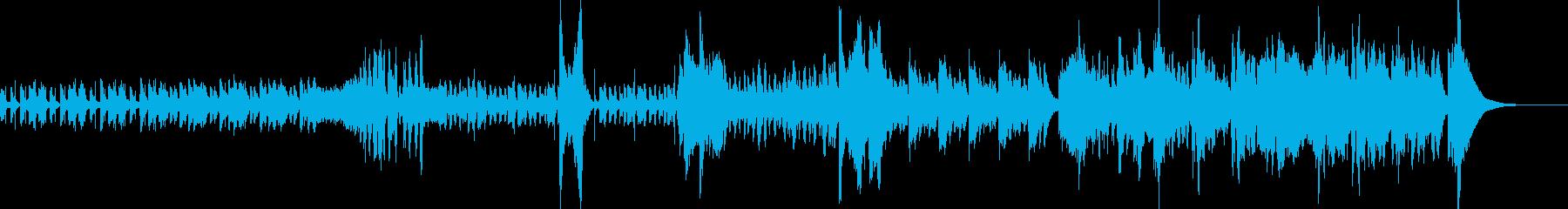 ジャズテイストなピアノとオーケストラの再生済みの波形
