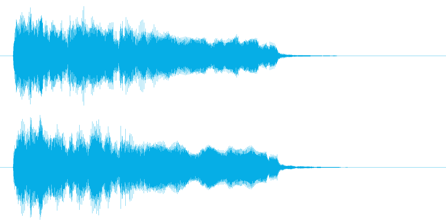 場面転換、ちょっとした演出用のジングルの再生済みの波形