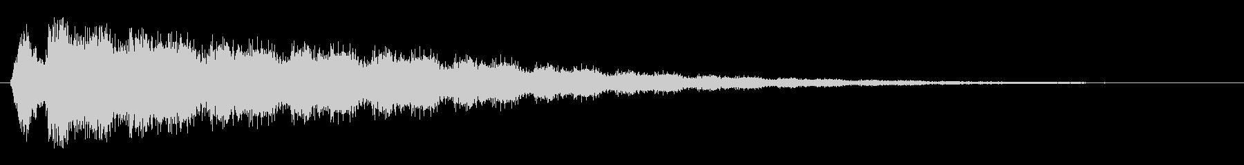 レーザービーム発射(プシュシュシュシュ)の未再生の波形