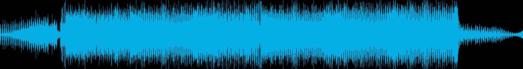 ハードでミニマルなサイケトランスの再生済みの波形