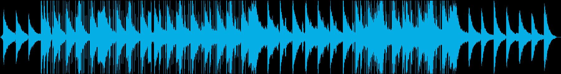 セクシーなスローエレクトロミュージックの再生済みの波形