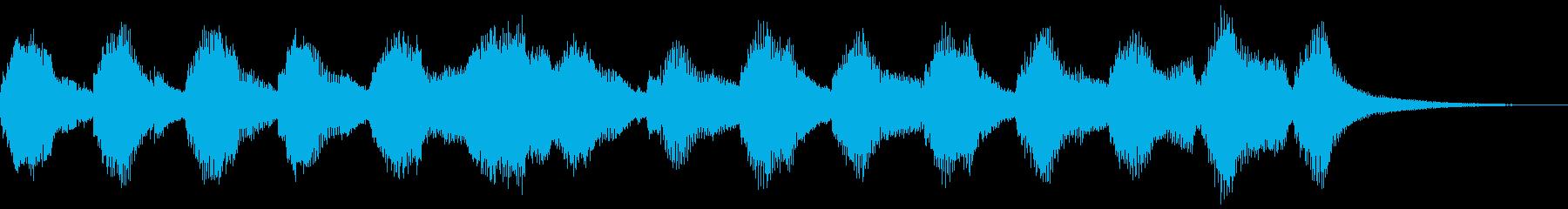 楽しいジングルの再生済みの波形