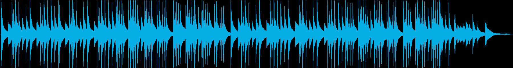 教会のような厳かな雰囲気のピアノBGMの再生済みの波形