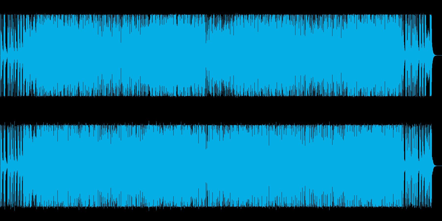 スタイリッシュで爽やかなポップBGMの再生済みの波形