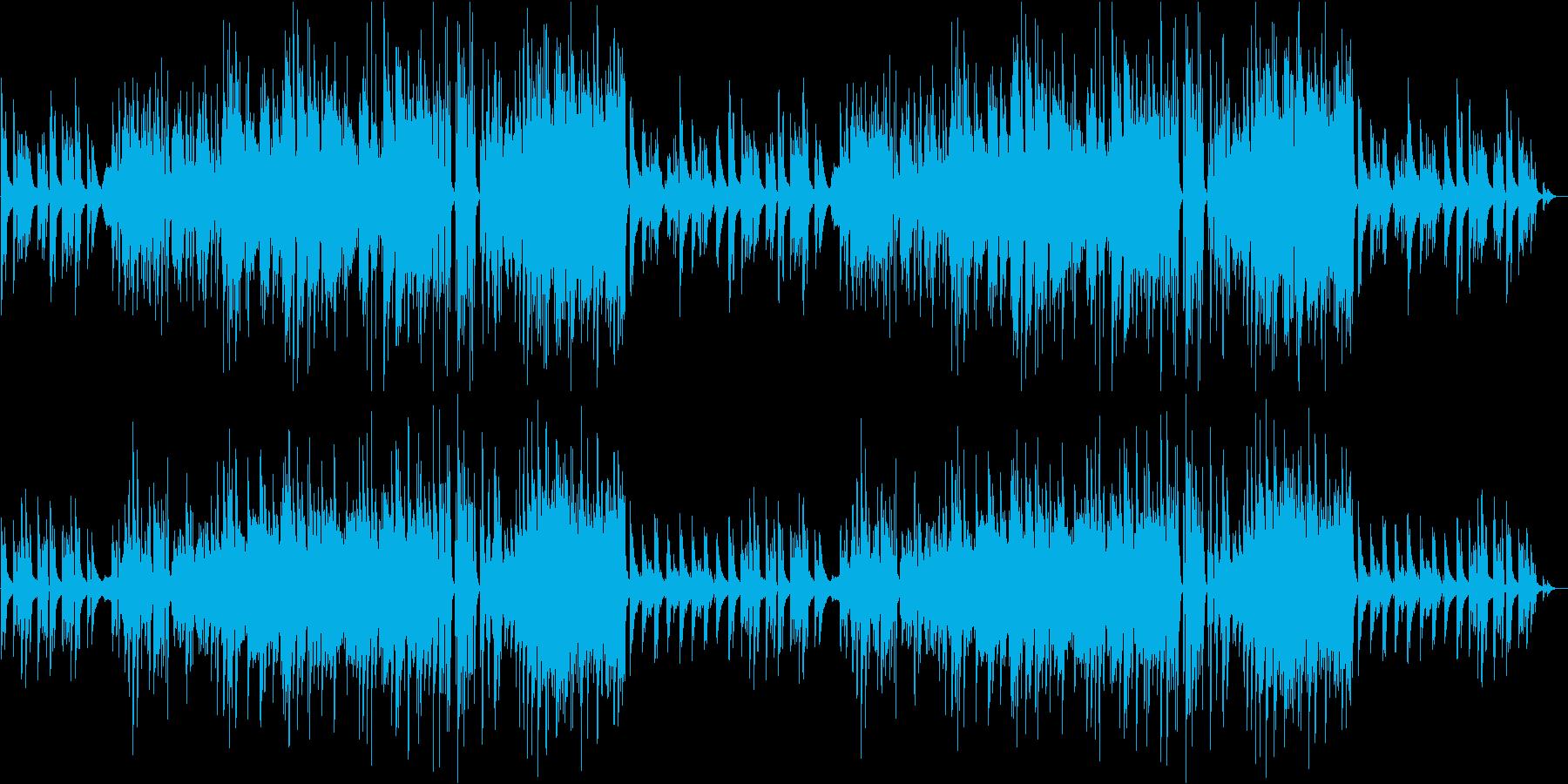 朝イメージの爽やかなピアノ&ストリングスの再生済みの波形