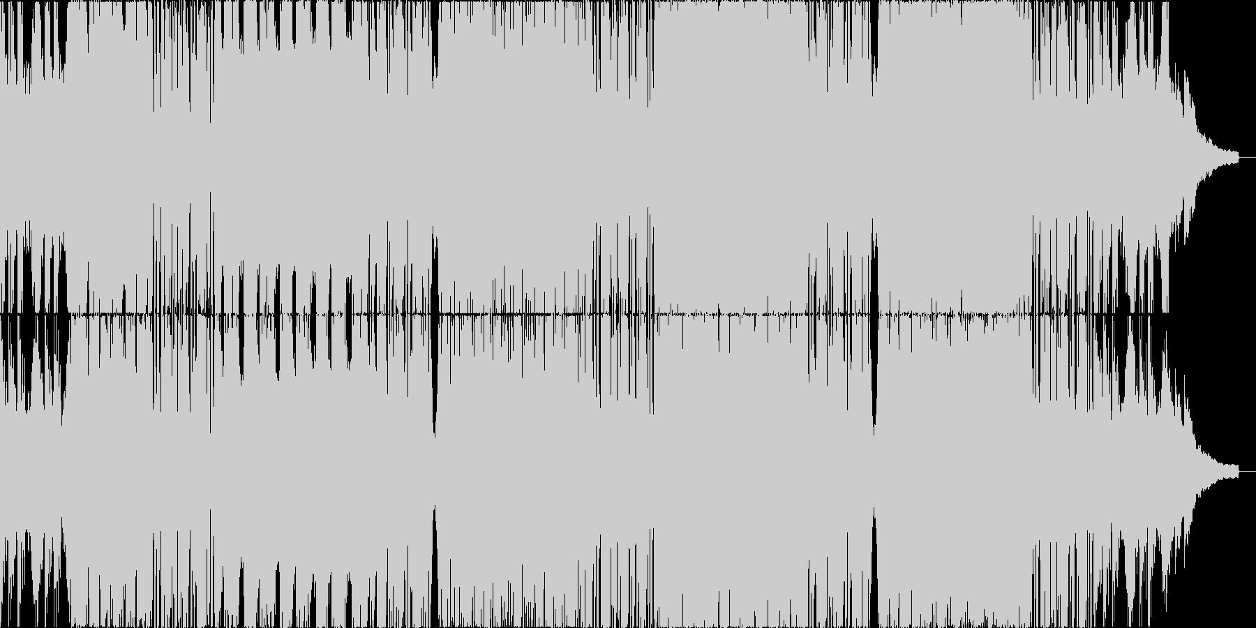 チルアウト系のEDMの未再生の波形