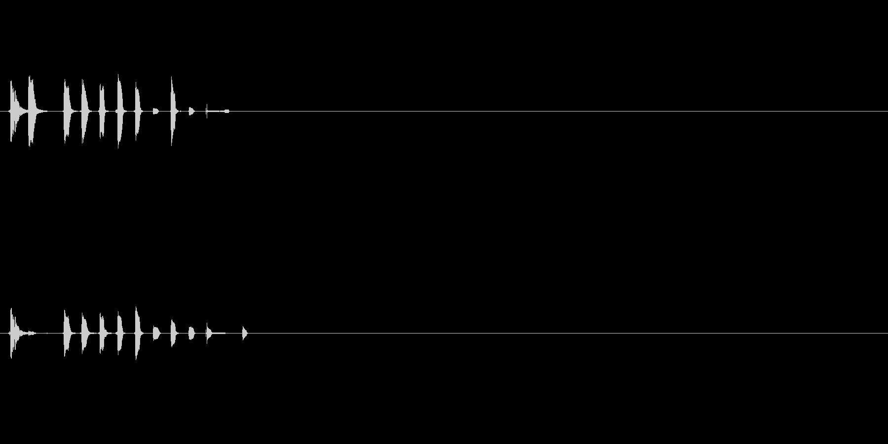 パチンコリーチ演出用効果音の未再生の波形