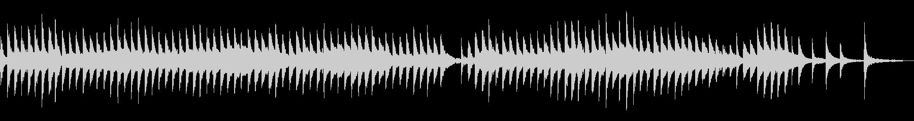 伝統趣ある切ない哀愁感ピアノアンビエントの未再生の波形