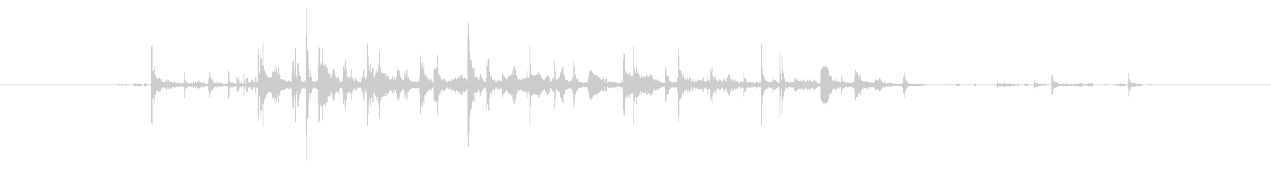 水音43の未再生の波形