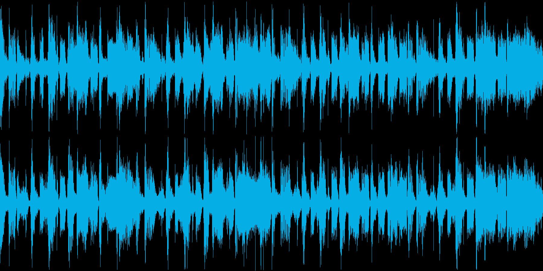 クールでゆったりした印象のベースジングルの再生済みの波形