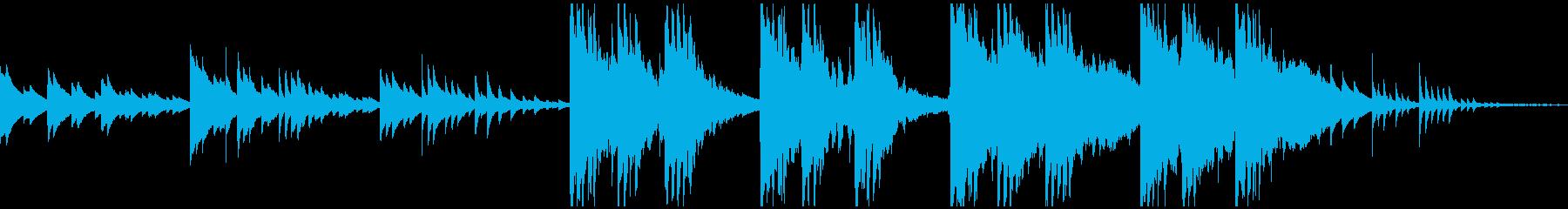 穏やかなピアノアンビエントの再生済みの波形