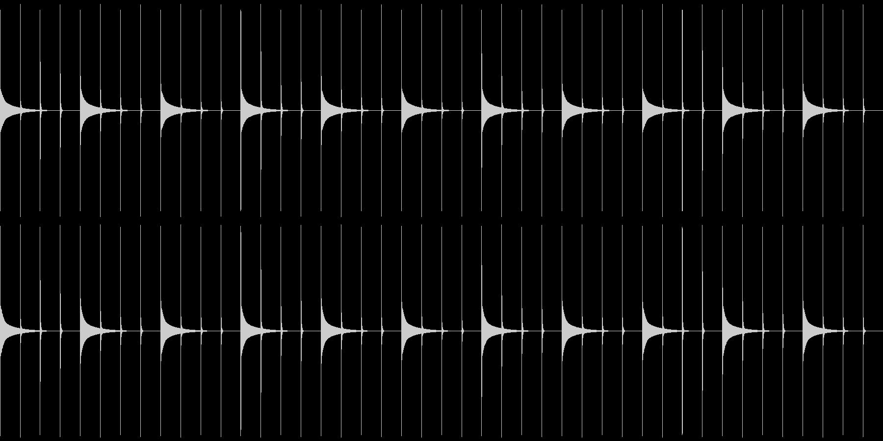木製振り子メトロノーム19-BPM40の未再生の波形