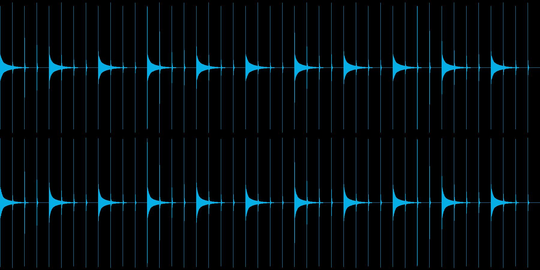 木製振り子メトロノーム19-BPM40の再生済みの波形