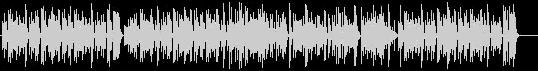 ややコミカルなジャズピアノの未再生の波形