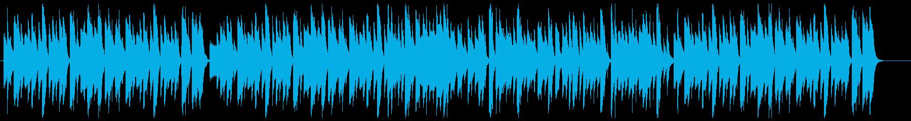 ややコミカルなジャズピアノの再生済みの波形