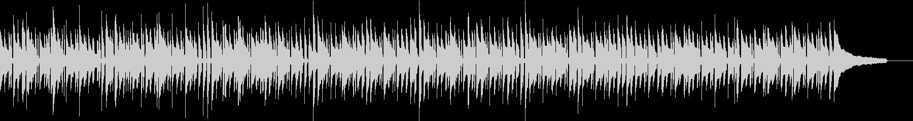 ほのぼのとした雰囲気の気の抜けたBGMの未再生の波形