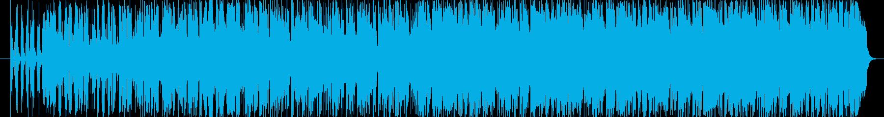 ピアノで旋律を奏でているジャズワルツの再生済みの波形