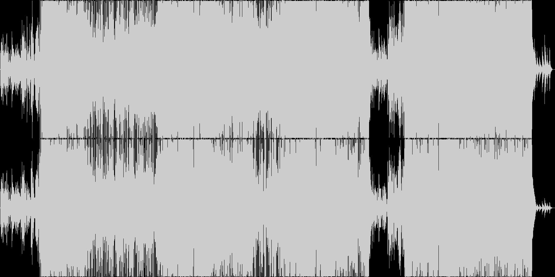 恋する胸きゅんピアノ系ポップスの未再生の波形