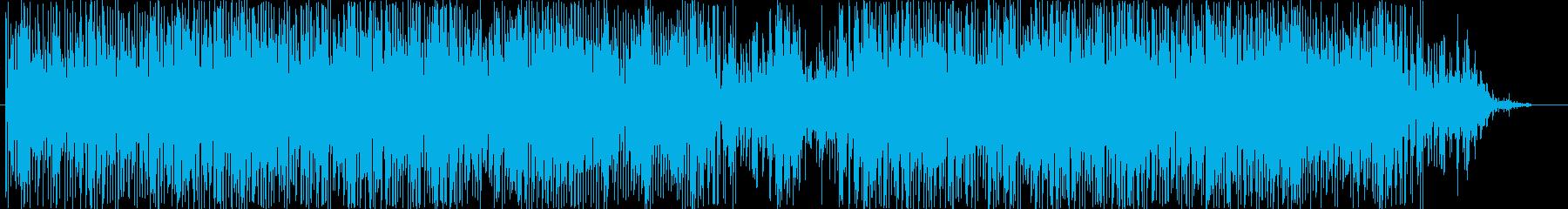緊張感煽る劇伴音楽の再生済みの波形