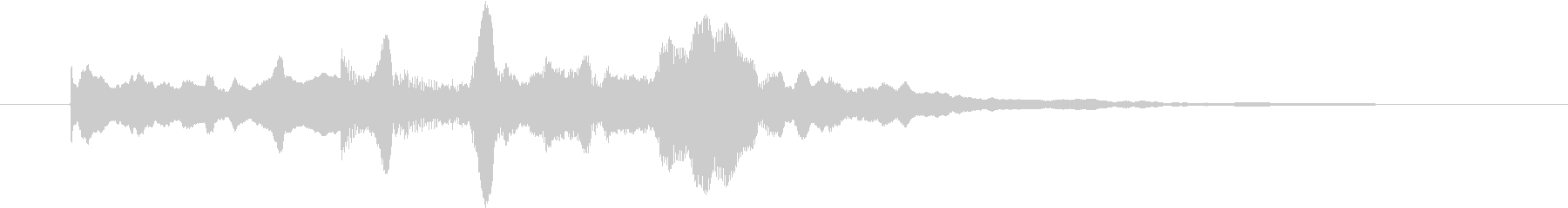 幻想的なジングル 場面転換の未再生の波形