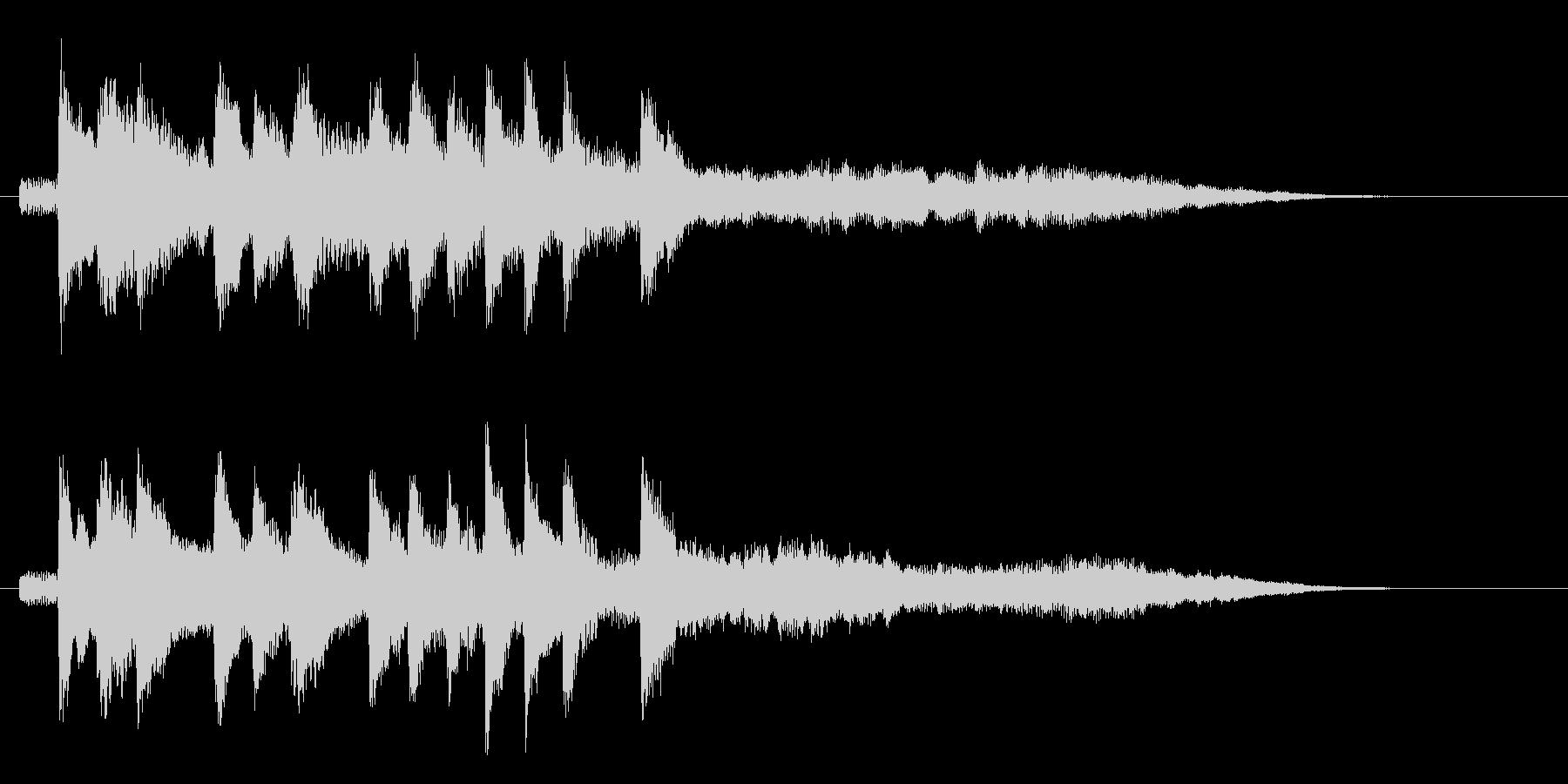 クールで未来的なシンセ ジングル 8秒の未再生の波形