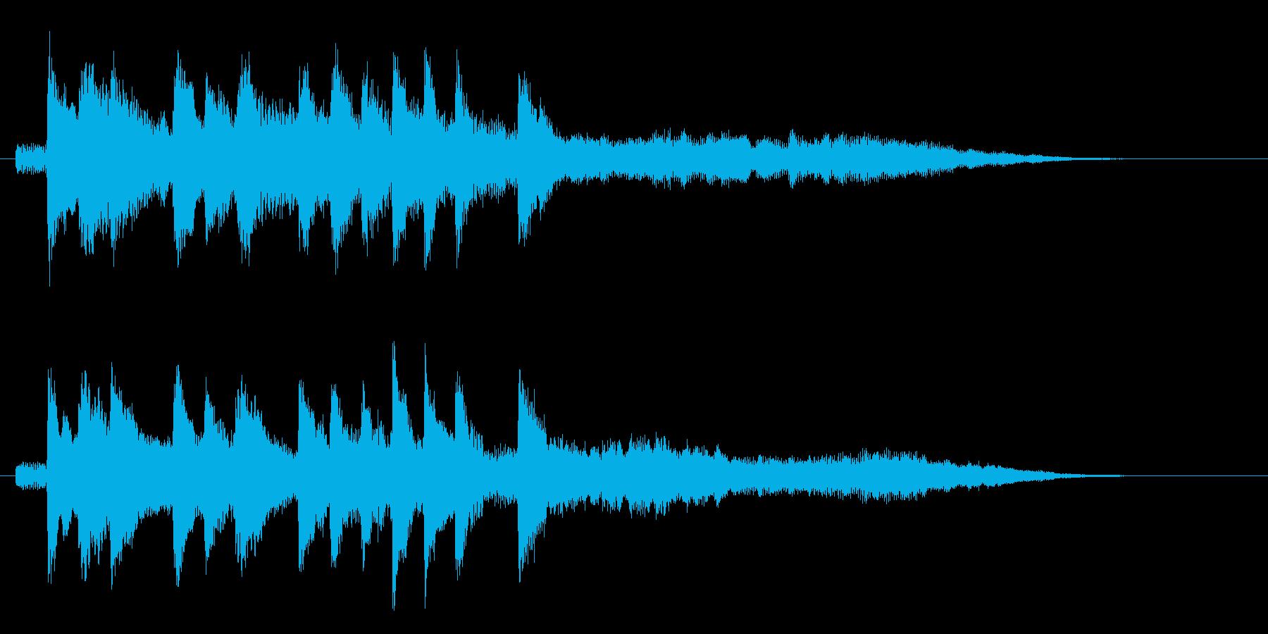 クールで未来的なシンセ ジングル 8秒の再生済みの波形