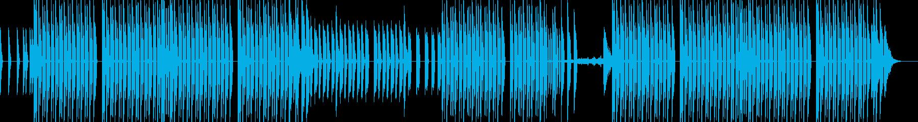 どこか懐かしさのある雰囲気のテクノの再生済みの波形