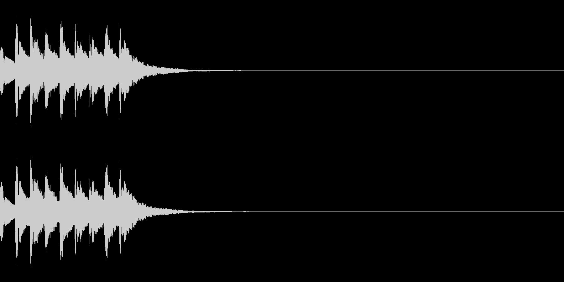 注意喚起を促す効果音・ドミソドミソドミソの未再生の波形