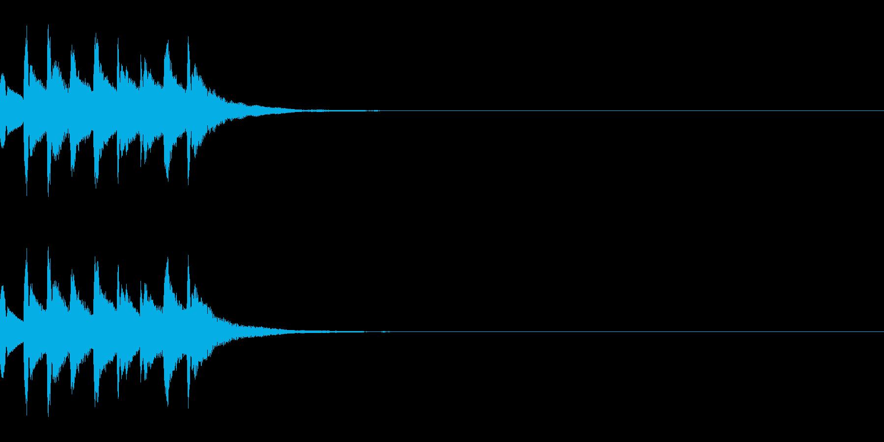 注意喚起を促す効果音・ドミソドミソドミソの再生済みの波形