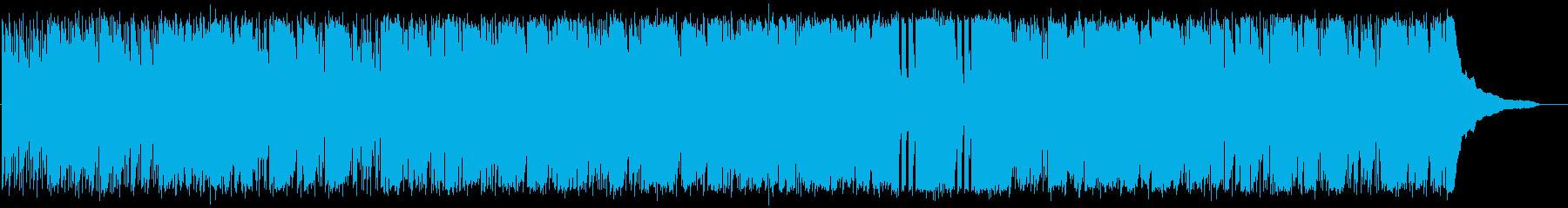 ワイルドでゆったりしたBGMの再生済みの波形