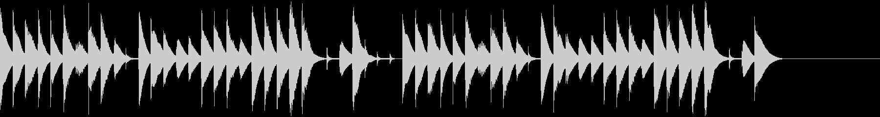 木琴によるほのぼのとした雰囲気のBGMの未再生の波形