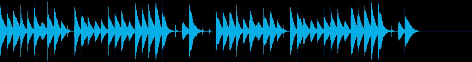 木琴によるほのぼのとした雰囲気のBGMの再生済みの波形